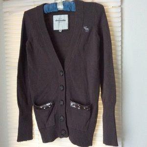 Abercrombie Knit Jacket Khaki Sz M
